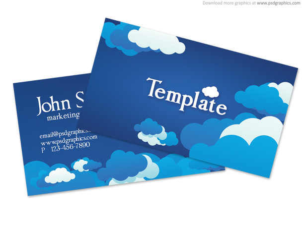 Link toBlue cloudy sky business card template (psd)