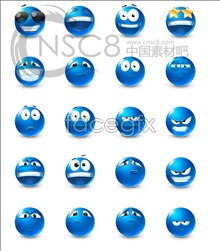 Link toBlue cute emoticons