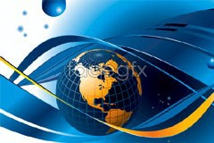 Link toBlue dynamic background of the earth vector