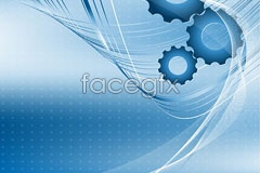 Link tovector background gear and lines dynamic Blue