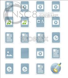Link toBlue elegant desktop icons