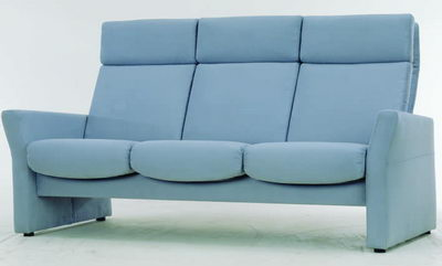 Link toBlue fabric sofa 3d model
