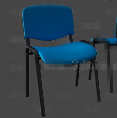 Link toBlue fashion office chair 3d model