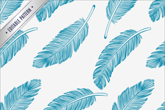 Link toBlue feather seamless vector background