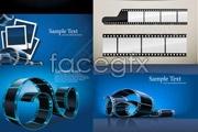 Link toBlue film negative vector