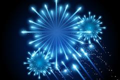 Link toBlue fireworks background vector