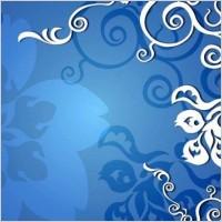 Link toBlue floral vector