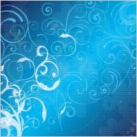 Link toBlue floral vector background