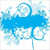 Link toBlue floral vector graphic