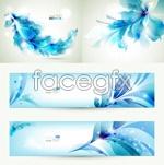 Link toBlue flower banner vector