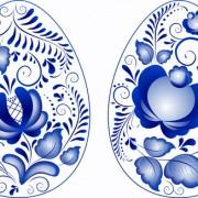 Link toBlue flower easter eggs vector free