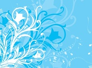 Link toBlue flower graphics vector free