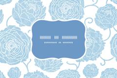 Link toBlue flower label background vector