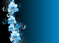 Link toBlue flowers background vector free
