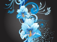 Link toBlue flowers graphics vector free