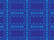 Link toBlue flowers pattern vector free