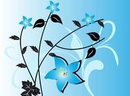 Link toBlue flowers vector free