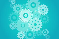 Link toBlue gear design vector