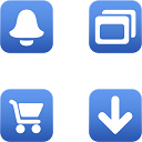 Link toBlue gradient toolbar icons