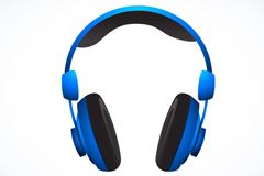 Blue headset vector