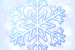 Link toBlue ice crystal snowflakes and background vector