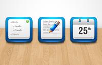 Link toBlue icon psd