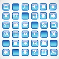 Link toBlue icons buttons