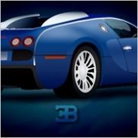 Link toBlue illustrate car with shiny render