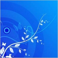 Link toBlue leaf and butterfly background vector design adobe illustrator ai
