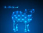 Link toBlue light sheep vector