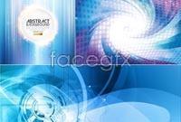 Link toBlue matrix background vector map