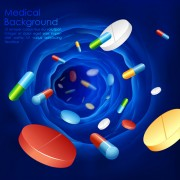 Blue medical herbal creative background vector free