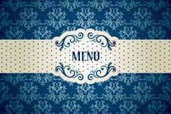 Link toBlue menu design vector