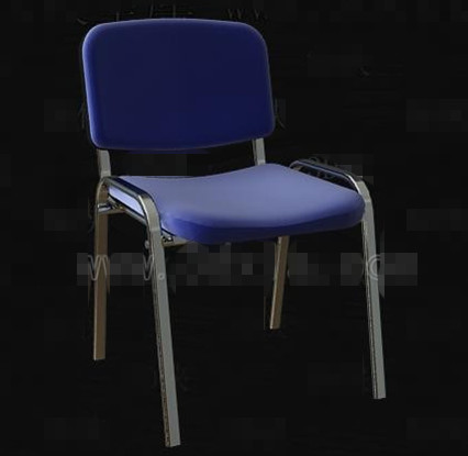 Link toBlue metal frame simple chair 3d model