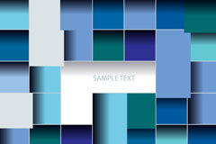 Link toBlue mosaic square background vector