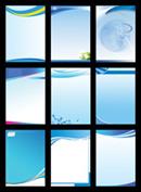 Link toBlue panel background psd