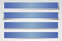 Link toBlue paper banner vector