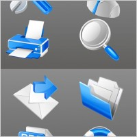 Link toBlue practical business icon vector