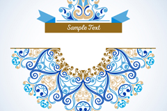 Link toBlue ribbon background vector