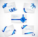 Link toBlue ribbon cards vector