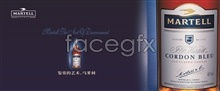 Link toBlue ribbon design psd martell wine