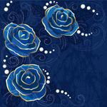 Link toBlue roses backgrounds vector