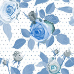 Link toBlue roses seamless background vector