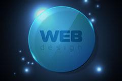 Link toBlue round the web design background vector