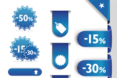 Link toBlue sale sale tag vector