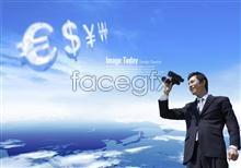 Link toBlue sky dollars euros renminbi telescope psd