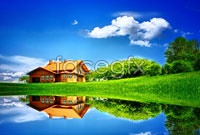Link toBlue sky reflection lakes high definition pictures