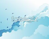 Link toBlue sky scenery of wild geese fly vector