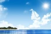 Link toBlue sky waters psd landscape