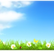 Link toBlue sky with nature vector background vector 01 free